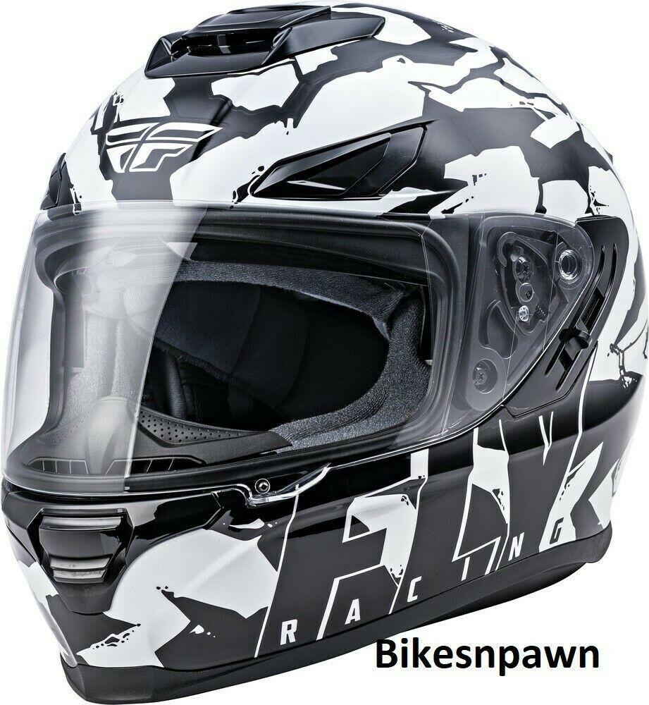 XS Fly Racing Sentinel Ambush Motorcycle Helmet Camo/Black/White DOT & ECE