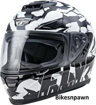 XS Fly Racing Sentinel Ambush Motorcycle Helmet Camo/Black/White DOT & ECE  image 1