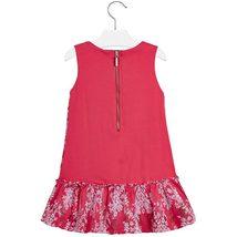 Mayoral Little Girls 2T-9 Floral Embroidered Stripe Lace Social Dress image 2