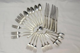 Viceroy Plate USA Silverplate Lot of 28 Forks Knives Spoons Teaspoons - $58.79