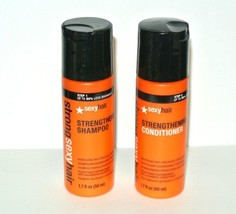 Sexy Hair Strong Sexy Hair Strengthening Shampoo Conditoner 1.7 fl.oz. t... - $8.86