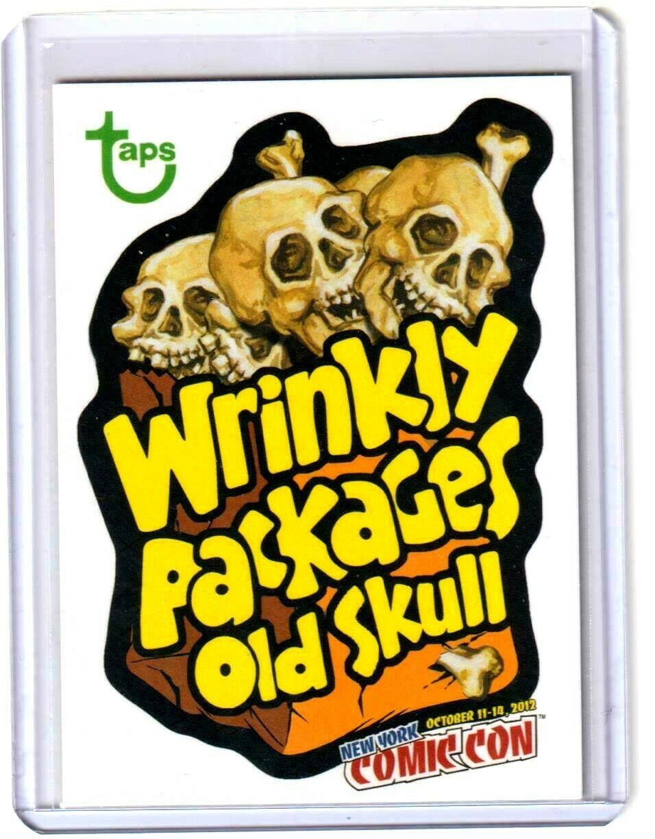 """2012 Wacky Packages Old School Series 4 Promo """"WRINKLY PACKAGES OLD SKULL"""" NYCC"""