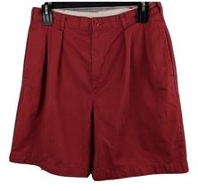 J Crew Pleated Shorts Men's Sz 34 Brick Red Casual Cotton (x) - $10.79