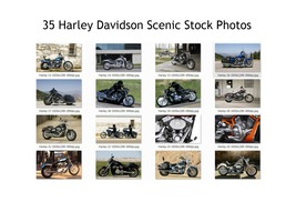 Harley Motorcycles Scenic Stock Photos 35 High Quality Images 300 DPI Pr... - $35.00
