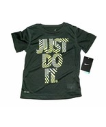 Nike Boys Just Do It Dri-Fit Gray T-Shirt Sizes 4 and 5 NWT - $17.99