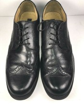 BASS Winston Black Leather Wing Tip Brogue Casual Dress Shoes Mens Size ... - $42.87
