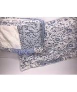 Rachel Simply Shabby Chic Bohemian Blue Floral Sham Patchwork Quilted St... - $38.52