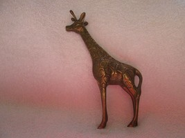"Russ, Russ Berrie, Made In Korea, brass plate, 6 1/2"" tall, Beautiful Giraffe - $20.00"