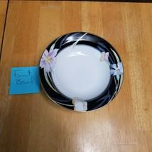 Mikasa Charisma Black Fruit Bowl (1) Black with Flowers Around the Rim L9050 - $3.22