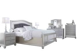 Ashley Coralayne 6PC Bedroom Set E King Upholstered - Silver - $3,700.19