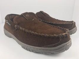 Clarks Dawson Men US 8 Brown Slip On Moccasin Slippers - $38.11 CAD