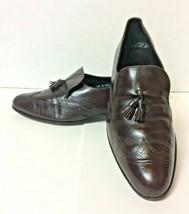 Florsheim Men's Burgundy Slip-on Wingtip Dress Shoe with Tassels - Size ... - $8.00