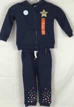 NEW Carter's Girls 2 Piece Full Zip Hoodie And Jogger