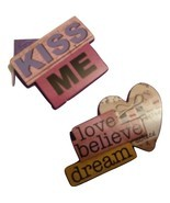Simple yet charming purple kiss me greeting card - €3,17 EUR
