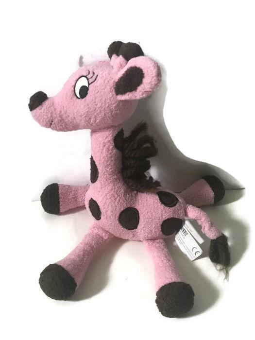 Gymboree Giraffe Club Plush Toy Polka Dot Pink Brown Red Bow Lovey Stuffed
