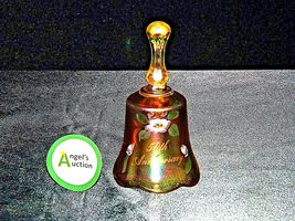 Fenton Heavy etched 50th Anniversary glass Bell design USA AA19-LD11929 Vintage image 5