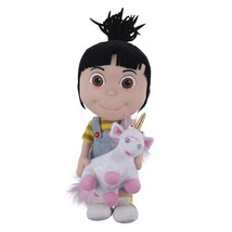 universal studios despicable me agnes holding unicorn plush new with tags - $37.00