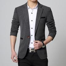 New Fashion Autumn and Winter Men Black Suit Jacket Men's Casual Business Suit J image 9