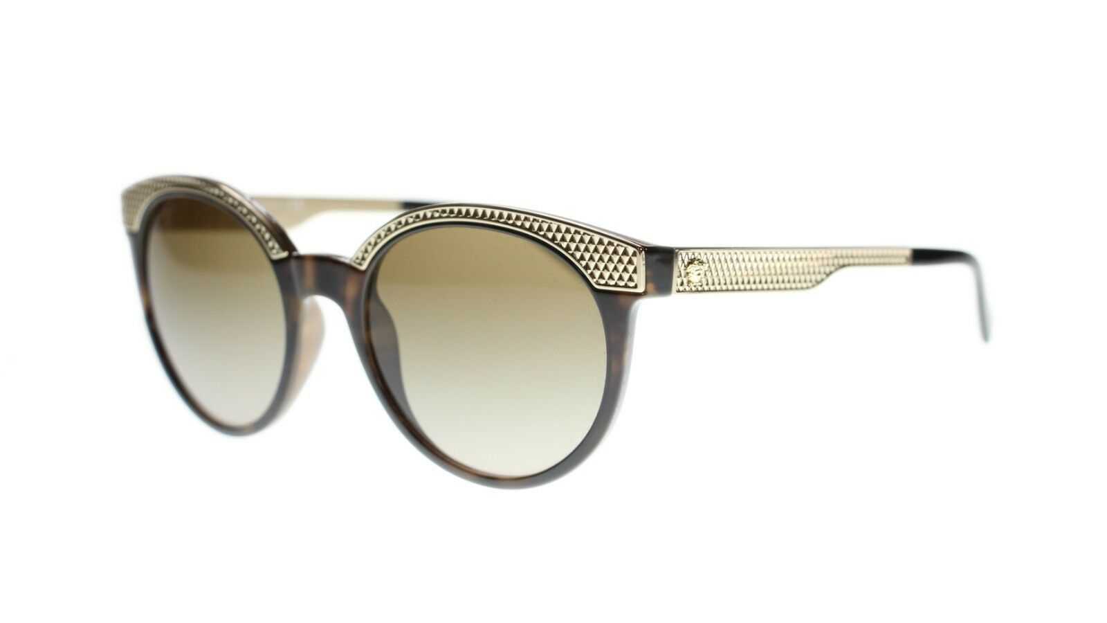 Versace Sunglasses VE4330 988/13 Havana & Gold Brown Gradient 53mm Authentic
