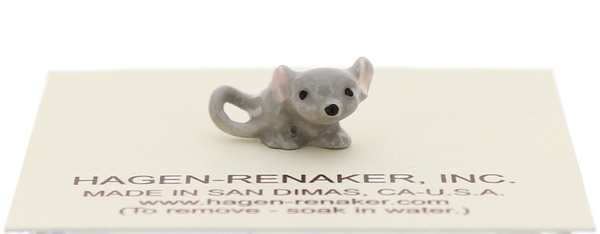 Hagen-Renaker Miniature Ceramic Mouse Figurine Tiny Baby with Curled Tail