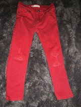 Levi's Super Skinny Red Toddler Jeans Size 4 - $13.27