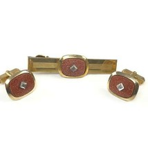 Vintage Anson 12k gold filled cufflink and tie clip set 18.1 grams - $19.79