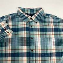 Lands' End Dress Shirt Men's 17-17.5 Long Sleeve Plaid Traditional Fit C... - $18.95