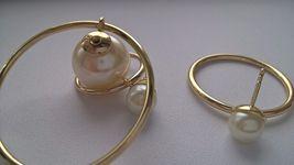 Authentic Christian Dior Mise En Dior Tribal Hoop Pearl Earrings  image 3