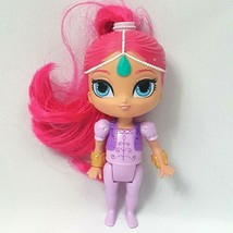 "Nickelodeon Shimmer And Shine Genie Doll 6"" Pink Hair Purple Mattel Viacom  - $8.56"