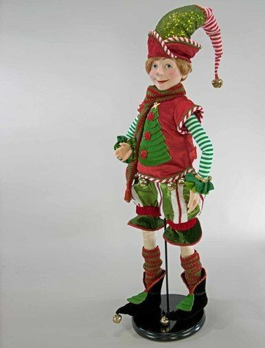 katherine's collection elf doll & stand Christmas tree sweater 28-828230 32""
