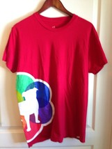 Zynga Games Gay Pride 2012 Play With Friends Dog Red Rainbow Tee T-Shirt Red L - $28.71