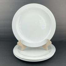 """Set of 3 Vintage Corning Centura White Rimmed Dinner Plates 10 1/2""""  - $29.69"""