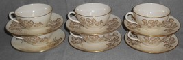 Set (6) Lenox CELESTE PATTERN Cups and Saucers MADE IN USA - $29.69