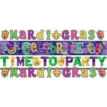 Mardi Gras Letter Banner Combo Pack 4 Ct - $11.87