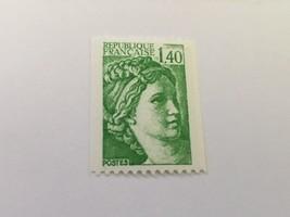 France Definitive Sabine 1.40 coil mnh 1981 - $0.95