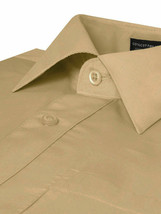 Men's Classic Fit Long Sleeve Wrinkle Resistant Button Down Khaki Dress Shirt image 2