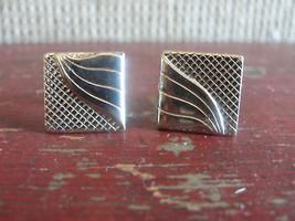 Silver tone cuff links, square - $14.20