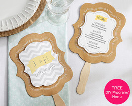 Personalized Asst. Themed Hand Fan Wedding Favor DIY Menu & Program 20 D... - $71.20+