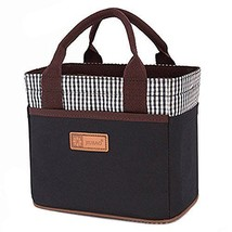Cute Canvas Bento Lunch Bag for Picnic Travel Tote Lunch Bag with Rope Belt - $13.84