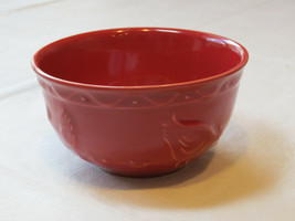 Marcador Fine Stoneware Red Cereal or Soup Plates Chicken and Chicks Cou... - $21.36