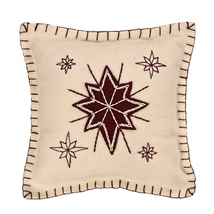 """North Star Pillow - 10""""x10"""" - VHC Brands - Country Farmhouse Christmas"""