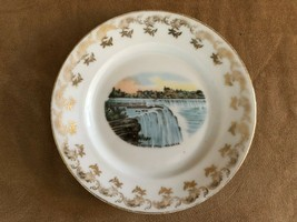 "Niagara Falls Canada Collector Plate 6"" waterfall blue gold vintage Cana... - $19.50"