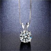 Swarovski Crystals 1.00 CT Diamond Created Solitaire Pendant  Necklace - $16.00