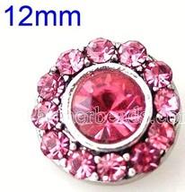 Pink Rhinestones 12mm Mini Petite Charm For Ginger Snaps Magnolia Vine - $6.19