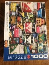 VW Van 1000 Piece Puzzle - Volkswagen Type 2 Minibus Funky Jam Jigsaw Puzzle - $23.17