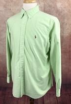 Ralph Lauren Polo Classic Fit Oxford Mint Green Shirt Men's 16.5 34/35 - $17.39