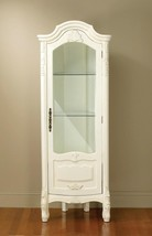 Traditional Classic White Finish Wood Cabinet C... - $1,260.00