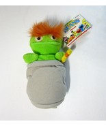 1997 Tyco Sesame Street Oscar the Grouch Plush Bean Bag with Hang Tag - $9.75