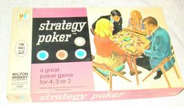 Vtg 1968 STRATEGY POKER Card Game w/Vinyl Mat Milton Bradley Complete - $9.99