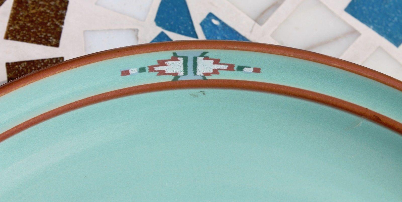 Noritake Stoneware Japan Dinner Plate & Cereal Soup Bowl Boulder Ridge Turquoise image 10